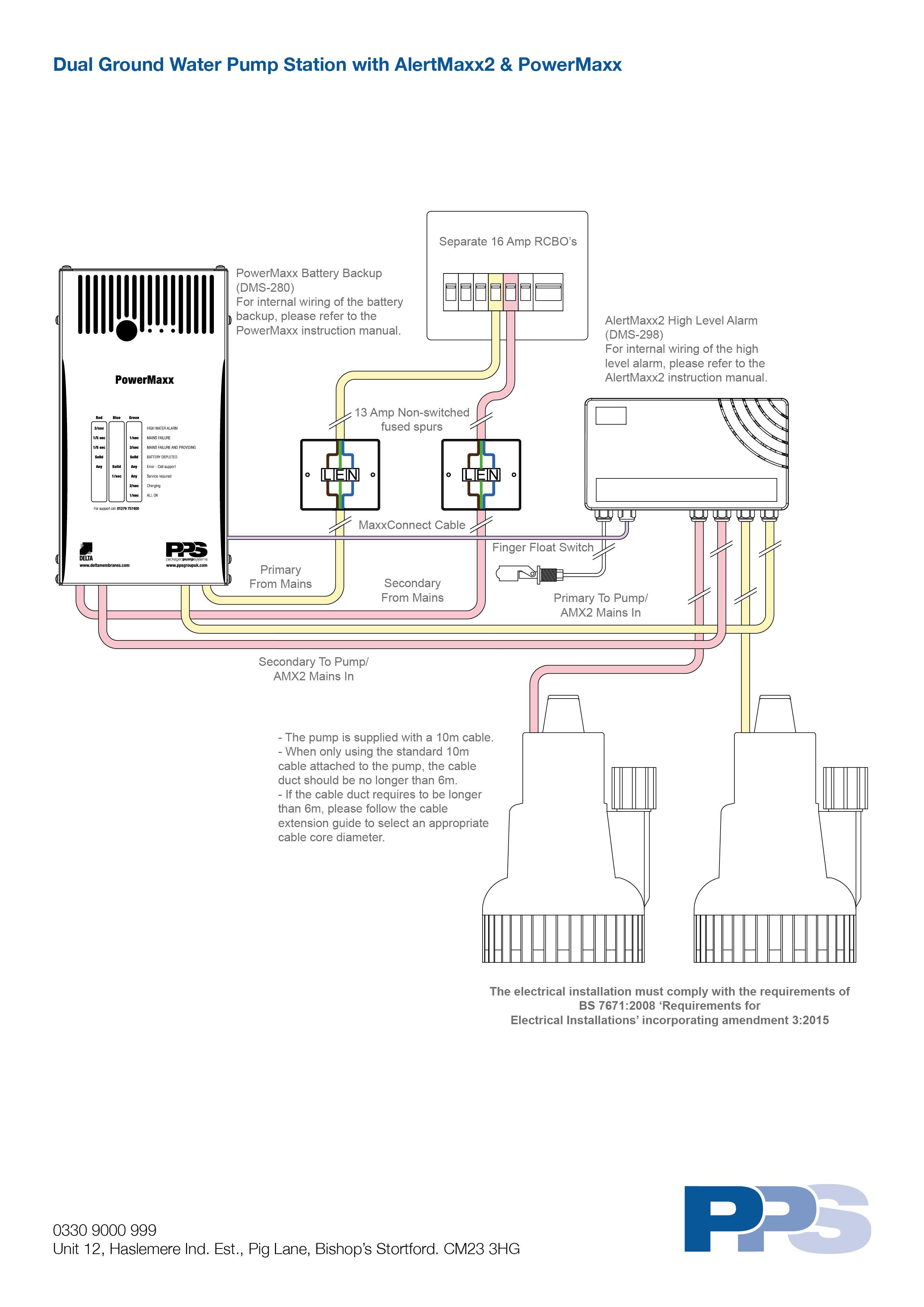 water pump internal diagram dual ground water pump station with alertmaxx2   powermaxx wiring  dual ground water pump station with